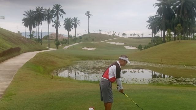 Kaz at the hole 11 tee box
